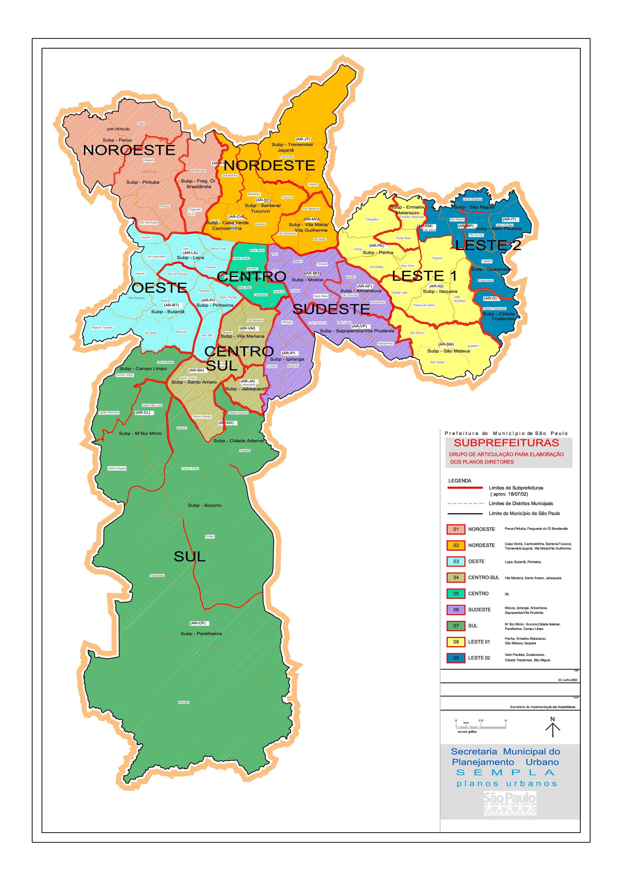 d6b84da22 Regiões de São Paulo mapa - Mapa das regiões de São Paulo (Brasil)