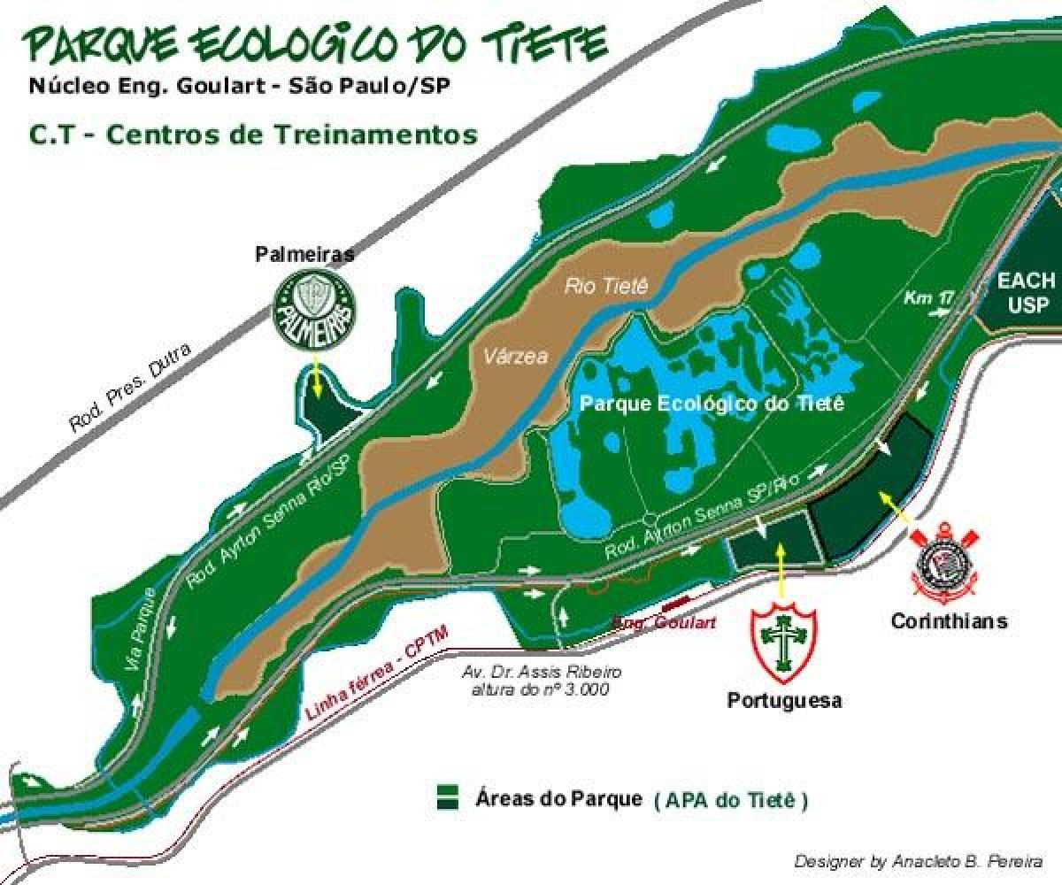 Mapa do Parque Ecológico do Tietê